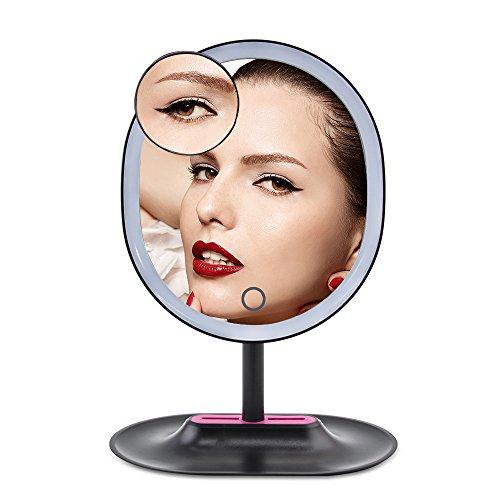 DAXGD-Miroir-de-maquillage-avec-16-LEDs-10X-Grossissant-Miroir-de-table-avec-USB-cable-Noir-0