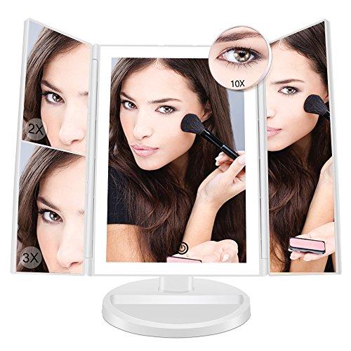 Fascinate-LED-lumineux-miroir-maquillageeclairant-miroir-cosmtique-avec-10x-3x-2x-1x-grossissant-lumineux-cran-tactile180–Ajustable-Avec-Bouton-tactile-Batterie-cble-USB-coiffeuse-Miroir-0