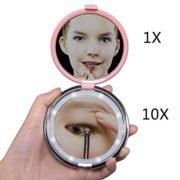 Rond-Miroir-Grossissant-Lumineux-Led-miroir-grossissant-10x-voyage-1x10x-FushoP-miroir-maquillage-led-miroir--main-Miroir-cosmtiqueRose-0