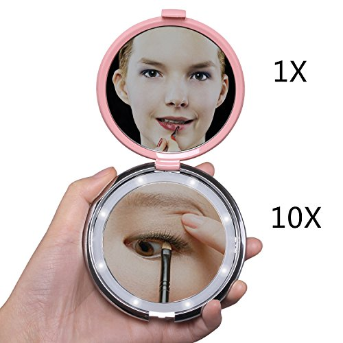 Rond-Miroir-Grossissant-Lumineux-Led-miroir-grossissant-10x-voyage-1x10x-FushoP-miroir-maquillage-led-miroir–main-Miroir-cosmtiqueRose-0