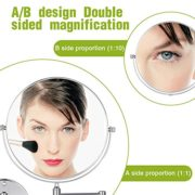 Cozzine-Miroir-Mural-Grossissant-Double-Face-Mirror-Mural-Miroir-10x-1x-Grossissant-Pivotant-Extensible-et-Finition-Chrome-pour-Salle-de-Bain-SPA-et-de-lHtellerie-0-0