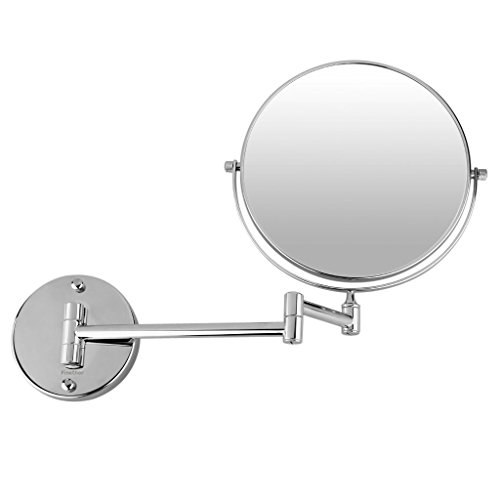 Finether-8-Pouces-Miroir-LED-Maquillage-Double-Face-10X-Magnification-Grossissement-360-Pivotant-Chrome-0