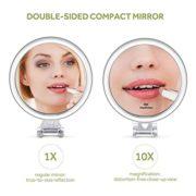 Lavany-Miroir-de-Poche-Grossissant-10X-Double-Face-Miroir--Main-Compact-Diamtre-8cm-Facile--Porter-0-0
