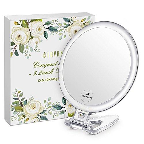 Lavany-Miroir-de-Poche-Grossissant-10X-Double-Face-Miroir–Main-Compact-Diamtre-8cm-Facile–Porter-0
