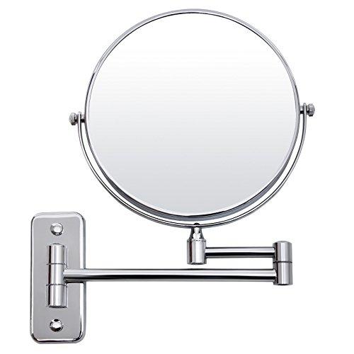 SONGMICS-BBM001-Miroir-cosmtique-mural–2-cts-avec-miroir-grossissant-8-cm-Argent-0
