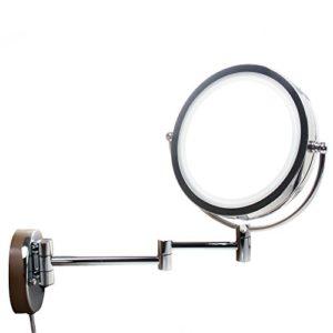 TUKA-85-Pouces-LED-Maquillage-Miroir-Mural-10X-grossissant-avec-ou-sans-forage-peut-tre-mont-Double-Visage-Cosmtique-Rasage-Tournant-Miroir-Lumineux-Extension-Pliant-chromage-TKD3129-10x-0