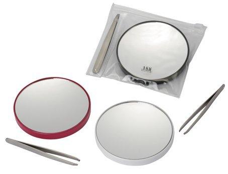 Fancy-Metal-Goods-Pack-Miroir-Grossissant-x-15-avec-Pince–Epiler-et-Petite-Pochette-0