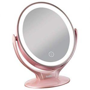 Miroir-Maquillage-avec-21-Lumineux-LED-Miroir-Grossissant-1x-7x-Miroir-Vanit-Maquillage-avec-cran-Tactile-Lumires-LEDRotation-360-Miroir-Cosmtique-USB-Rechargeable-pour-Salle-de-Bain-Voyage-0