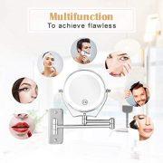 Athomestore-Miroir-grossissant-avec-clairage-LED-Miroir-cosmtique-Montage-Mural-Miroir-grossissant-1x7-x-Compartiment--360-orientable-Horizontale-Verticale-mtal-chrom-0-0