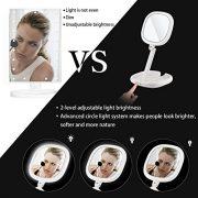 Beautifive-Miroir-Maquillage-Lumineux-Miroir-Grossissant-7X-et-1x-Miroir-Voyage-LED-Portable-Compact-Pliable-Rotation-360Double-Face-Luminosit-Hauteur-Angle-Rglables-Blanc-0-0