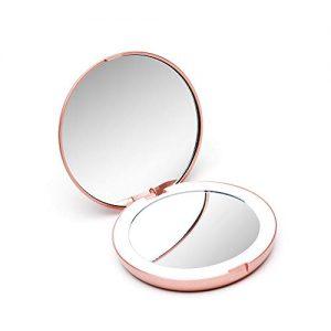 Fancii-Petit-Miroir-de-Poche-Lumineux-Grossissant-1x-10x-LED-Miroir--Main-de-Maquillage-avec-clairage-Naturel-Compact-et-Portable-pour-Voyage-Lumi-Mini-0
