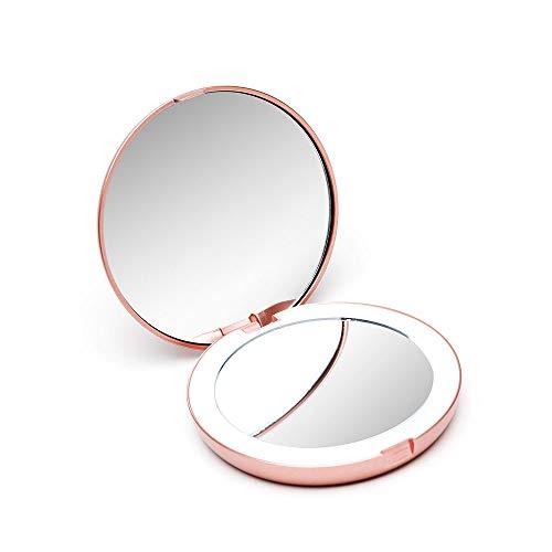 Fancii-Petit-Miroir-de-Poche-Lumineux-Grossissant-1x-10x-LED-Miroir–Main-de-Maquillage-avec-clairage-Naturel-Compact-et-Portable-pour-Voyage-Lumi-Mini-0