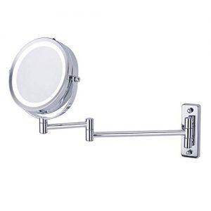 Miroir-Grossissant-Lumineux-Mural-x-5-Miroir-Salle-De-Bain-6-Pouces-Double-Face-LED-360-Degrs-Rotation-Pliable-4-Piles-AAA-Requises-Non-Fournies-Mont-sur-Un-Mur-Rond-Pivotant-0