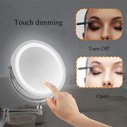 Miroir-Rond-Grossissant-X-10-Mural-LED-Lumineux-Chargement-USB-Miroir-Salle-De-Bain-Double-Face-Miroir-Murale-360-Degrs-Rotation-Bouton-Tactile-Couleur-Argent-0-0