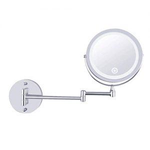 Miroir-Rond-Grossissant-X-10-Mural-LED-Lumineux-Chargement-USB-Miroir-Salle-De-Bain-Double-Face-Miroir-Murale-360-Degrs-Rotation-Bouton-Tactile-Couleur-Argent-0