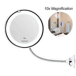 leegoal-10x-Miroir-Lumineux-de-Maquillage-Miroir-de-vanit-de-salle-de-bain-avec-ventouse-forte-et-360--rglable-flexible-col-de-cygne-sans-fil-et-compact-Voyage-miroir-0