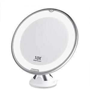 Beautural-Grossissant-Miroir-Maquillage-10x-avec-Lumires-LED-1-Joint--Bille-dattache-Ajustable--360-Miroir-Cosmtique-Portablepour-Salle-de-Bain-Voyage-0