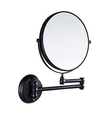 Eridanus-Miroir-Maquillage-Cosmtique-Mural-Double-Face-Pliable-Pivotant-3X-Grossissant-pour-Salle-de-Bain-WC-Chambre-Couleur-Noir-0