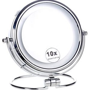 HIMRY-LED-6-Pouces-Lumineux-Miroir-cosmtique-sur-Pied-Assisi-15-cm-Miroir--Piles-Double-Face-avec-Normale-et-Grossissant-x10-360-degrs-Rotation-KXD3137-10x-0