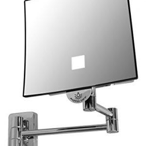 JVD-Miroir-Carr-Grossissant-X-3-Bras-Laiton-LED-Lumineux-sans-Raccordement-lectrique-Qualite-Hotel-0