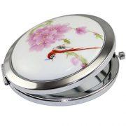 Kolight-Miroir-de-poche-double-cts-pliable-un-ct-miroir-grossissant-lautre-ct-miroir-normal-Design-vintage-chinois-fleur-oiseau-rouge-0-0