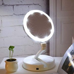 Mallalah-Miroir-Maquillage-LED-Femme-Professionnel-Lumineux-Pliable-Grossissant-10x-Voyage-Portable-Rotation-360-Double-Face-Angle-Rglable-Batterie-et-USB-Rechargeable-0