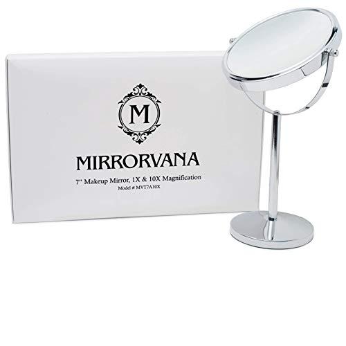 Mirrorvana-Miroir-Grossissant-x10-Sur-Pied-De-Table-Pour-Maquillage-10-Fois-et-1-Fois-18cm-0
