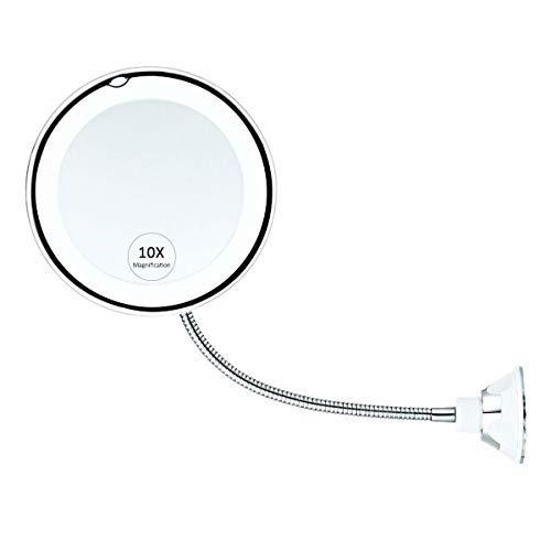 Womdee-Miroir-Grossissant-10X-Miroir-Maquillage-Avec-Lumires-Rotation-De-360-Degrs-Avec-Le-Col-De-Cygne-Rglable-Miroir-Salle-De-Bain-Avec-Ventouse-Miroir-Mural-Sans-Fil-Portable-0