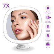 EASEHOLD-Miroir-Lumineux-Maquillage--Ventouse-Rechargeable-Grossissant-7X-Miroir-Courtoisie-Cosmtiques-Curaux-avec-21-Lumires-LED-Rotation--360-pour-Salle-de-Bain-0-0