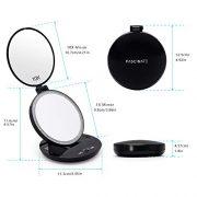 FASCINATE-Miroir-de-Poche-Lumineux-Miroir-de-Maquillage-1X-10X--LED-de-Voyage-clair-par-LED-Compact-Mirror-Led-Miroir--Main-Miroir-Cosmtique-0-0