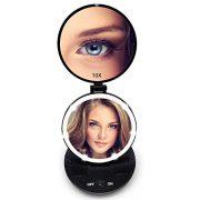 FASCINATE-Miroir-de-Poche-Lumineux-Miroir-de-Maquillage-1X-10X--LED-de-Voyage-clair-par-LED-Compact-Mirror-Led-Miroir--Main-Miroir-Cosmtique-0