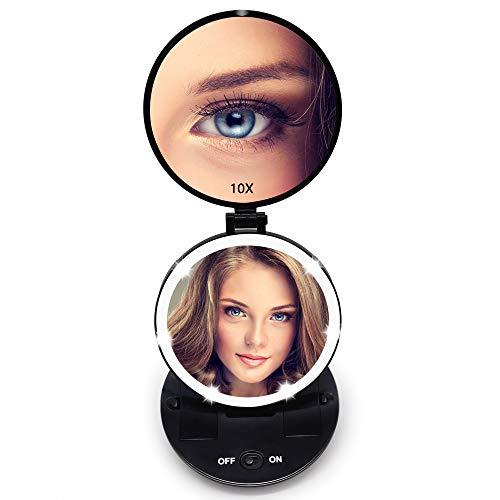 FASCINATE-Miroir-de-Poche-Lumineux-Miroir-de-Maquillage-1X-10X–LED-de-Voyage-clair-par-LED-Compact-Mirror-Led-Miroir–Main-Miroir-Cosmtique-0