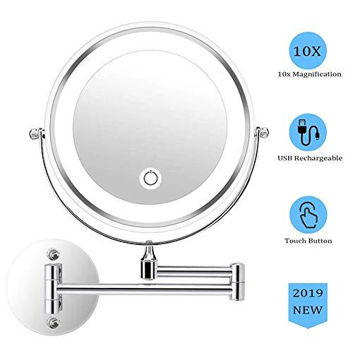 Miroir-Grossissant-Lumineux-Mural-x10-Miroirs-de-Maquillage-Mural-Chargement-USB-Bouton-Tactile-Miroir-Salle-De-Bain-Double-Face-Miroir-Murale-360–Pivotant-0