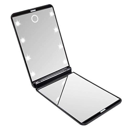 Miroir-de-Poche-Pliable-Miroir-Illumin-de-Maquillage-Miroirs–Main-Grossissant-1x-2X-pour-Le-Rasage-Le-Camping-et-Le-Maquillage-Noir-0