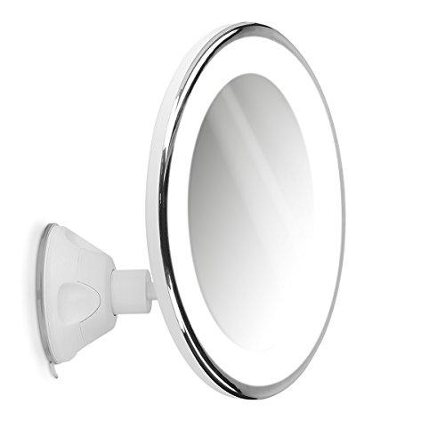 Navaris-Miroir-grossissant-clairage-LED-Zoom-10x-Rotation-360-Miroir-Mural-Lumineux-avec-Ventouse-Salle-de-Bain-Maquillage-beaut-Voyage-0