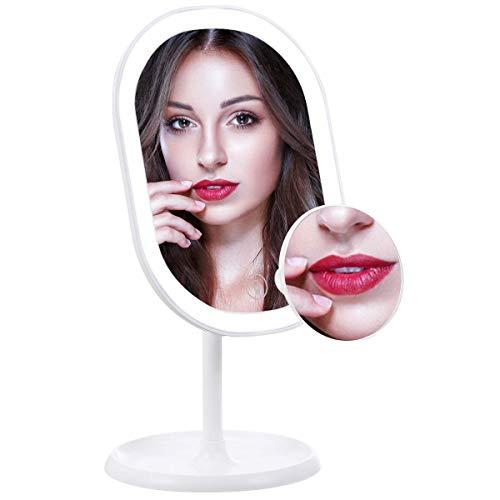 liaboe-Miroir-Maquillage-Grossissant-Lumineux-x10-LED-Lampes–cran-Tactile-et-Recharge-USB-avec-Lumire-FroideLumire-NaturelleLumire-Chaude-Support-Rglable–180-Degrs-0