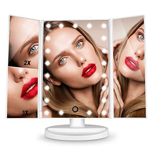 HAMSWAN-Dernire-Version-Miroir-Maquillage-Miroir-Grossissant-avec-21pcs-LED-Miroir-Lumineux-LED-avec-Ecran-Tactile-Alimentation-Double-Rotation-Rglable–180–0
