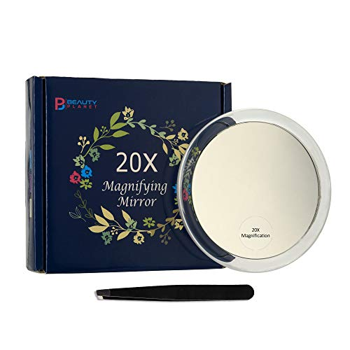Miroir-Grossissant-Avec-3X-Ventouses-Pour-Maquillage-Epilation-Elimination-Des-Points-Noirs-Et-Taches-Avec-Sac-De-Rangement-Pincette-Chiffon-Anti-Poussire-0