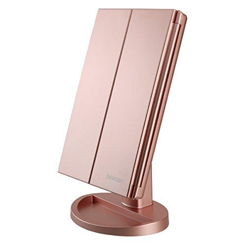 deweisn-Miroir-Maquillage-Lumire-avec-21-LED-Miroir-Grossissant-Triple-2X3X1X-Rglable-cran-Tactile-Rotation-180-Miroir-de-Table-pour-Cosmtique-et-Usage-Quotidien-0