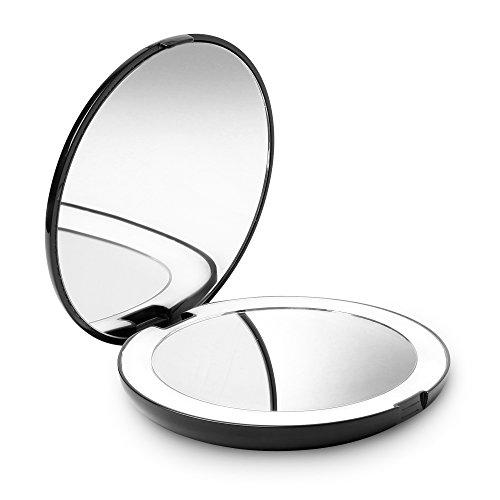 Fancii-LED-Miroir-de-Poche-Lumineux-Grossissant-1x-10x-Grand-Miroir–Main-de-Maquillage-avec-clairage-Naturel-127-cm-de-Diamtre-Compact-et-Portable-pour-Voyage-0