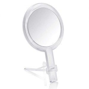 Double Face sur Pied Miroir cosm/étique de Table ou Rasage 10x Grossissement Hauteur R/églable Miroir de Salle de Bain TKD3114-10x TUKA Miroir Maquillage