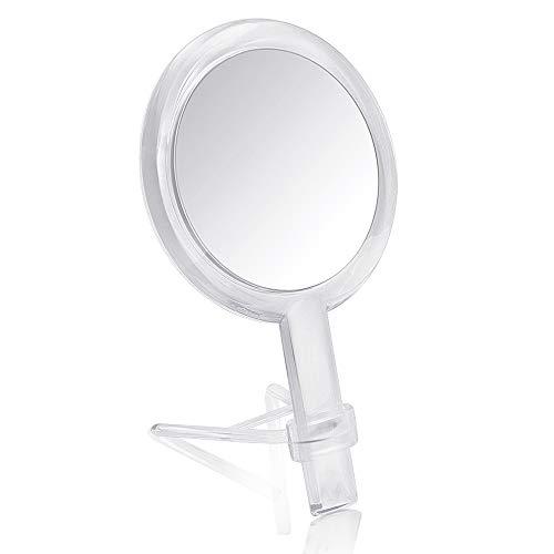 Gotofine-Miroir-de-Table-Miroir-de-Maquillage-10-x-Grossissement-Doubleface-dun-Pied-avec-Rotation–360-Degrs-Transparent-et-Clair-0