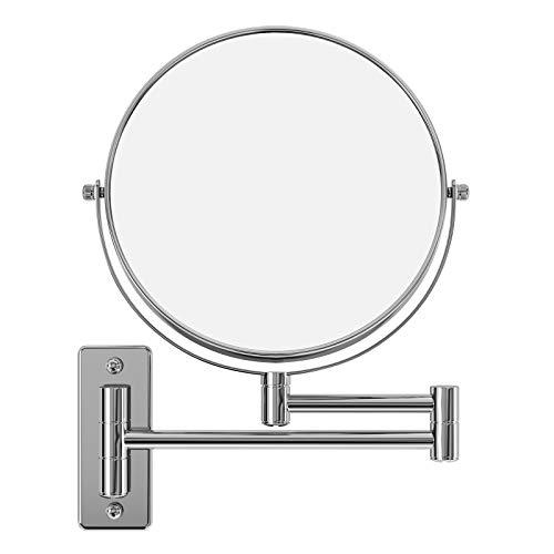 SONGMICS-Miroir-mural-double-face-Mirroir-de-maquillage-Miroir-cosmtique-10-Fois-grossissement-360-Pivotant-Extensible-20-cm-BBM001-0