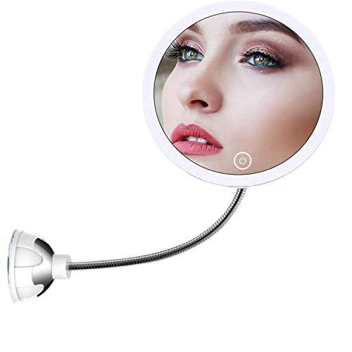 STLOVe-Miroir-de-Maquillage-grossissant-10X-Miroir-de-Maquillage-clair-Miroir-de-Maquillage-Miroir-Flexible-pour-Salle-de-Bains360-Rotation-col-de-Cygne-flexiblepour-Maquillage-et-Rasage-0